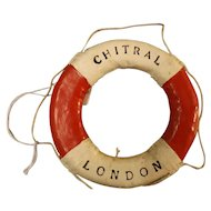 S.S. Chitral Souvenir Miniature Lifebuoy - P & O Lines
