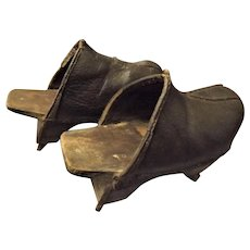 Antique Chinese Paddy Field Clogs Circa 1900-1910