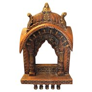 Indian Wall Shrine From Rajasthan  - Mid 20th Century