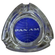 PAN AM Advertising Promotional Ashtray - Circa 1980