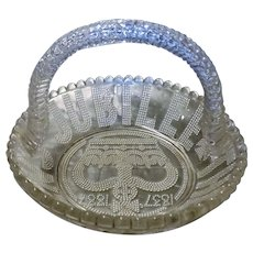 Queen Victoria 1837-1887 Silver Jubilee Cut Glass Bon-Bon Basket