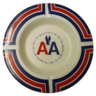 American Airlines Advertising Ashtray - Circa 1970's