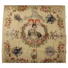 Charles & Diana Royal Wedding Commemorative Scarf 1981