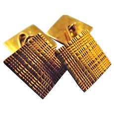 Superb 18 Carat Gold Cuff Links