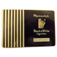 B.O.A.C. Airlines Black & White Cigarette Tin