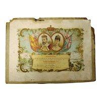 King Edward VII  1902 Coronation Certificate New Zealand School Children