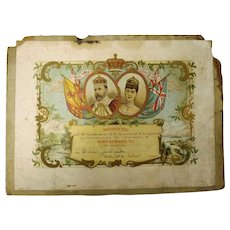 King Edward VII  1902 Coronation Certificate New Zealand School Children