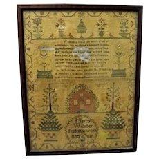 A Fine English Georgian Sampler Dated 1816
