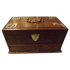 Edwardian English Oak Smokers Box