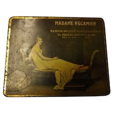 Madame Recamier Dutch Cigar Tin Circa 1900