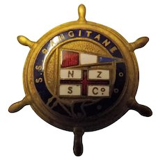 S.S. Rangitane Ships Souvenir Badge