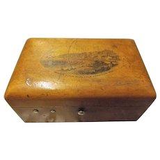 Mauchlin Ware Trinket Box -Late 1800's Weston-Super-Mare