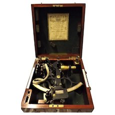 HUSUN WWII Cased Sextant By Henry Hughes & Son Of London