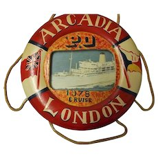 Large 1978 Souvenir Lifebuoy From P & O Liner ARDCADIA