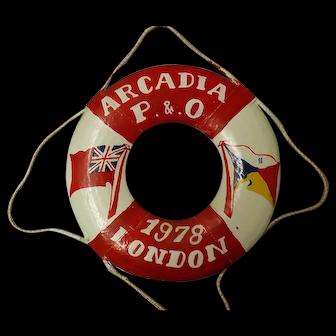 Souvenir Lifebuoy P & O Liner S.S. Arcadia 1978