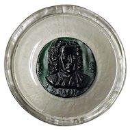 DAUM French Crystal Glass Plate Depicting Johann Sebastian Bach -1974
