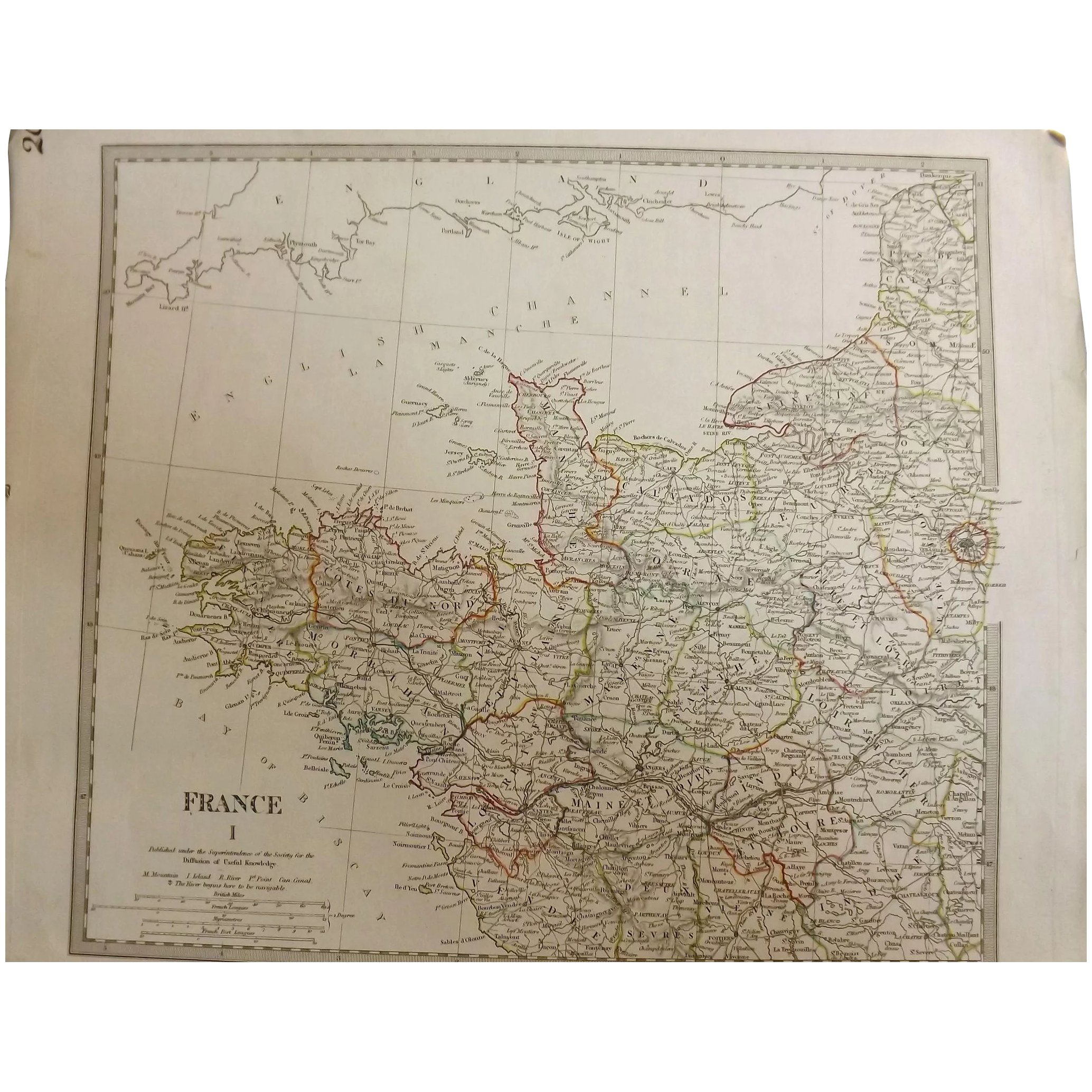 Antique Map of France By The