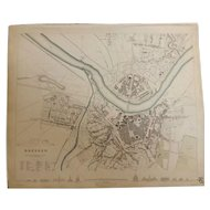 Antique Map of DRESDEN - Dated 1833