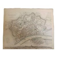 Antique Map of FRANKFORT -Dated 1837