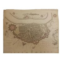 Antique Map of ANTWERP - Dated 1832