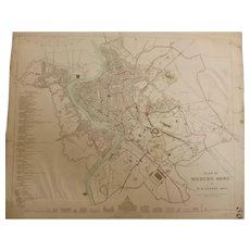 Antique Map of Modern ROME -Dated 1830