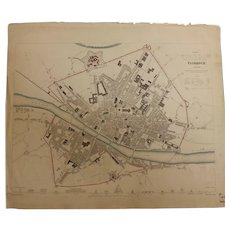Antique Map of FLORENCE - Dated 1835