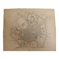 Antique Map of  MILAN - Dated 1832