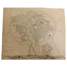 Antique Map of PARMA - Dated 1840