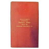 WELLCOME'S Professional Nurse's Diary  Australasian Edition  1911 - 12