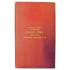 WELLCOME'S Professional Nurse's Diary  Australasian Edition  1911 - 12