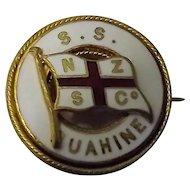 S.S. Ruahine Ships Souvenir Badge