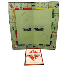 Waddington's MONOPOLY Near-Mint Set Pre Patent Edition Circa 1939-45