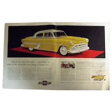 1953 Chevrolet Bel Air Original LargeDouble Page Advertisement