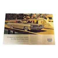Pontiac Bonneville Safari 1961 Large Double Page Advertisement