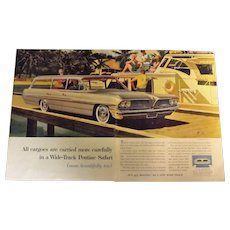 Pontiac Bonneville Safari 1961 Large Double Page Advertisement