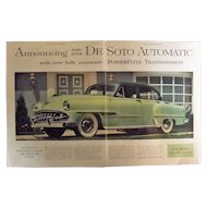 DE SOTO New 1954 Automatic Original Double Page Advertisement