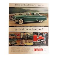 MERCURY V8 1953 Original Full Page Advertisement