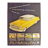 PLYMOUTH 1954 Original Full Page Advertisement