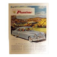 PONTIAC 1953 Original Full Page Advertisement