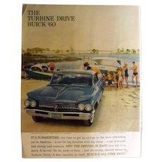 "1960 Buick ""Turbine Drive"" Original Full Page Advertisement"