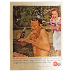 COCO-COLA Original 1960 Full Page Advertisement
