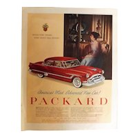 1953 Packard Range Original Full Page Advertisement