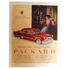 1953 Packard Range Original Full Page Advertisement