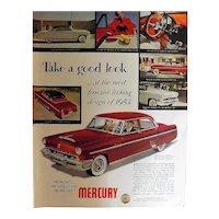1953 NEW MERCURY Original Full Page Advertisement