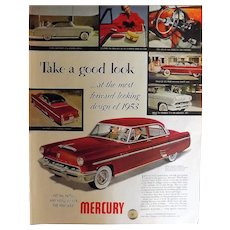1953 NEW MERCURY Original Full Page Advertisement