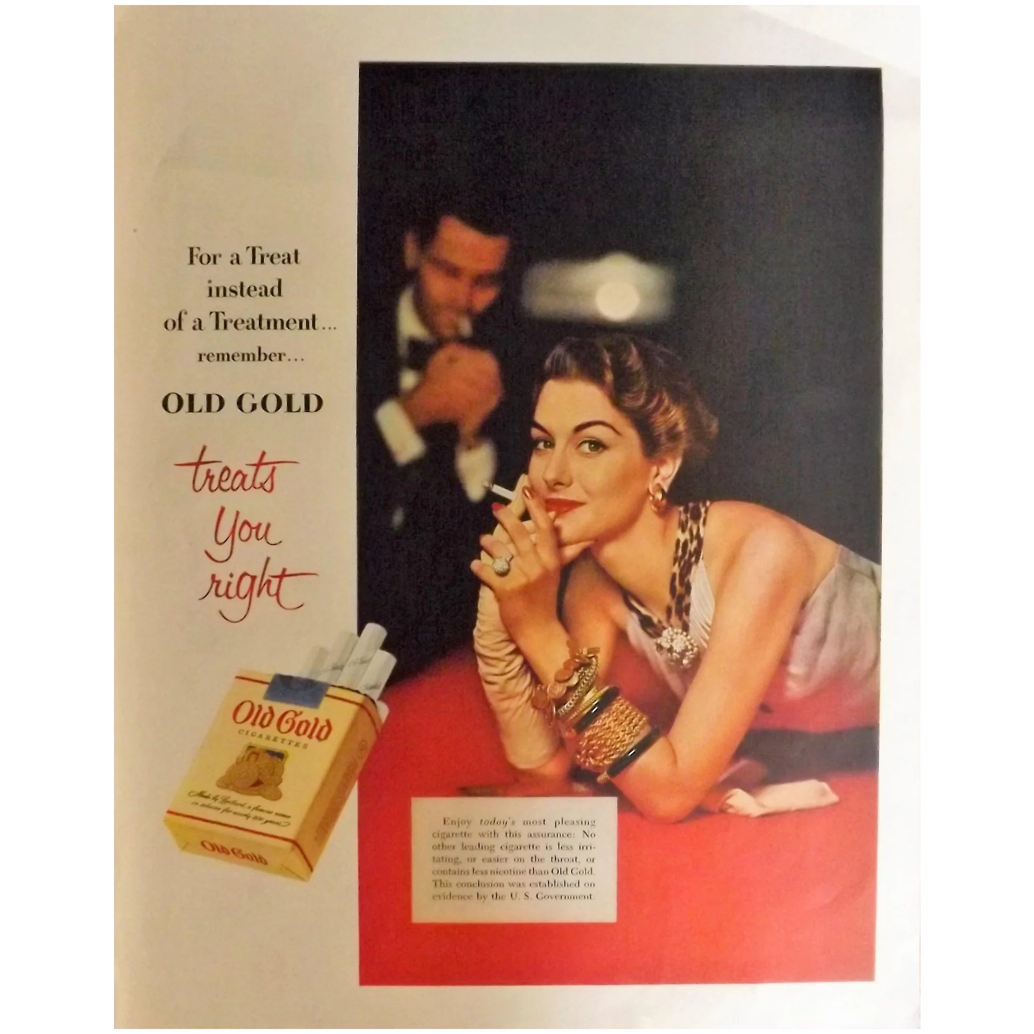 OLD GOLD Cigarettes Original Full Page 1953 Advertisement