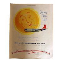 Northwest Airlines Original Full Page 1953 Advertisement