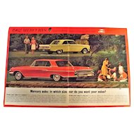 1962 Mercury Monterey & Comet Genuine Double Page Advertisement