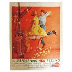 COCO-COLA Original 1961 Full Page Advertisement