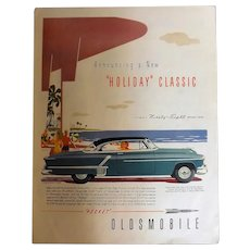 1952 Oldsmobile Ninety-Eight Holiday Coupe Original Full Page Advertisement